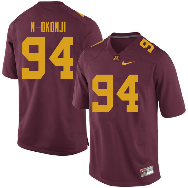 Men #94 Abi N-Okonji Minnesota Golden Gophers College Football Jerseys Sale-Maroon
