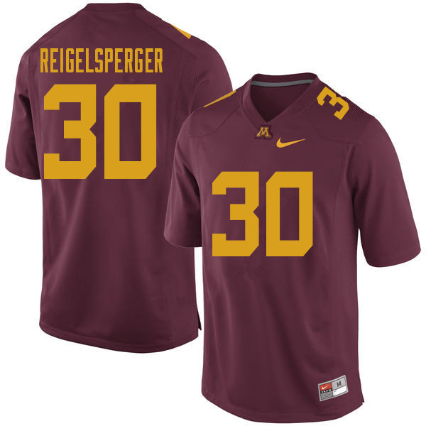 Men #30 Alex Reigelsperger Minnesota Golden Gophers College Football Jerseys Sale-Maroon