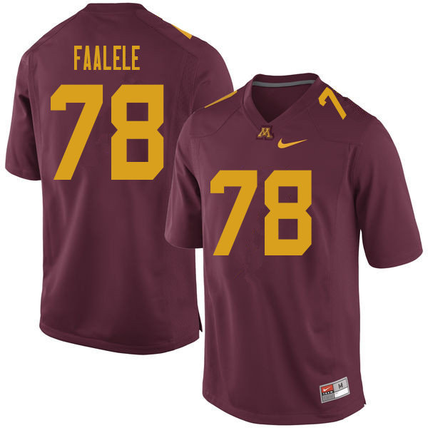 Men #78 Daniel Faalele Minnesota Golden Gophers College Football Jerseys Sale-Maroon