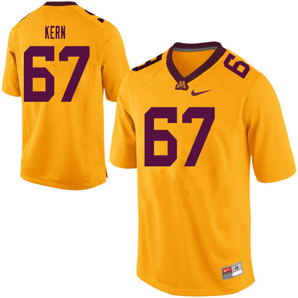 Men #67 Jack Kern Minnesota Golden Gophers College Football Jerseys Sale-Yellow