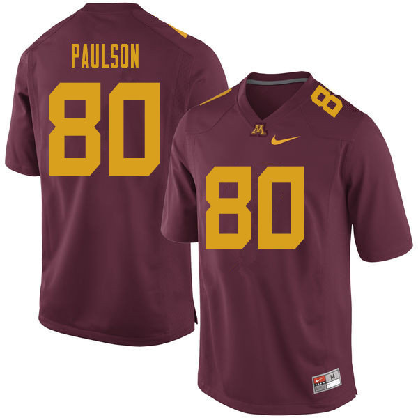 Men #80 Jake Paulson Minnesota Golden Gophers College Football Jerseys Sale-Maroon