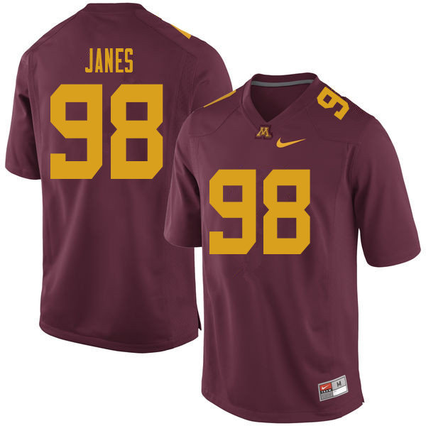 Men #98 Max Janes Minnesota Golden Gophers College Football Jerseys Sale-Maroon