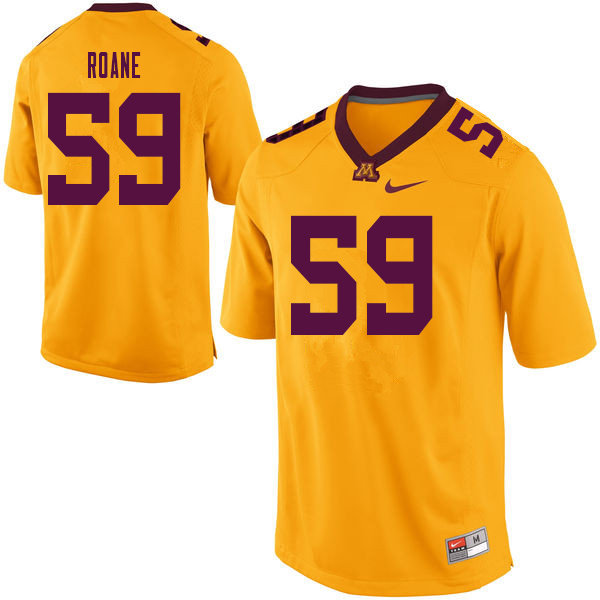 Men #59 Micah Roane Minnesota Golden Gophers College Football Jerseys Sale-Yellow