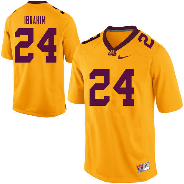 Men #24 Mohamed Ibrahim Minnesota Golden Gophers College Football Jerseys Sale-Yellow