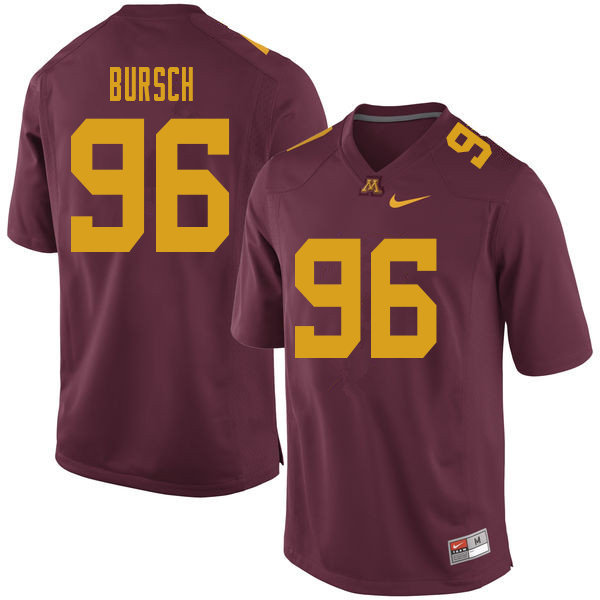 Men #96 Nathan Bursch Minnesota Golden Gophers College Football Jerseys Sale-Maroon