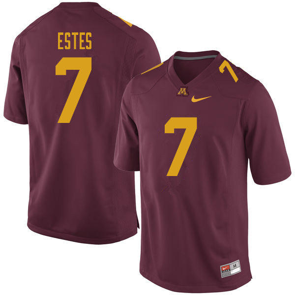 Men #7 Rey Estes Minnesota Golden Gophers College Football Jerseys Sale-Maroon