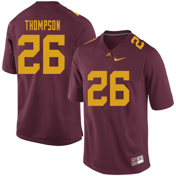 Men #26 True Thompson Minnesota Golden Gophers College Football Jerseys Sale-Maroon