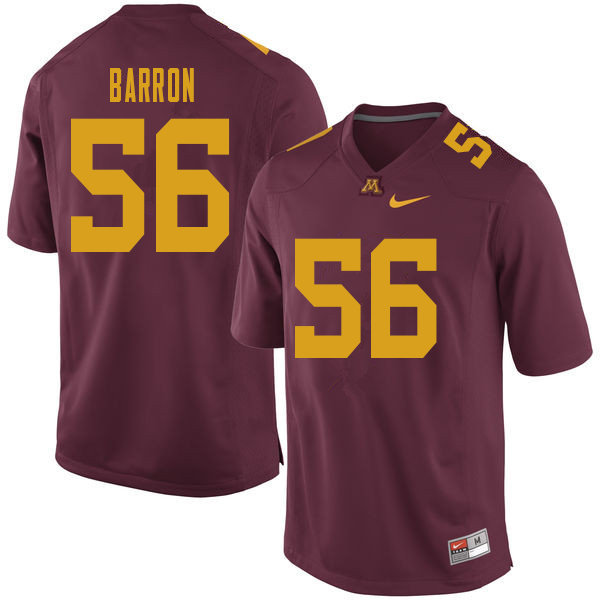 Men #56 Ty Barron Minnesota Golden Gophers College Football Jerseys Sale-Maroon