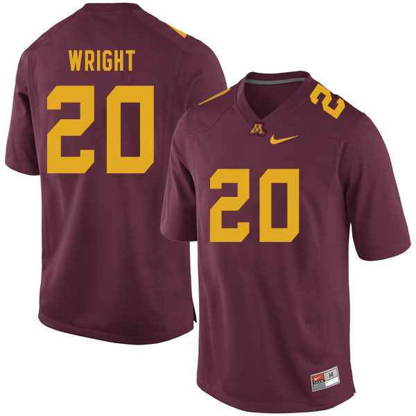 Men #20 Larry Wright Minnesota Golden Gophers College Football Jerseys Sale-Maroon