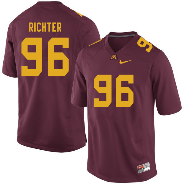 Men #96 Logan Richter Minnesota Golden Gophers College Football Jerseys Sale-Maroon