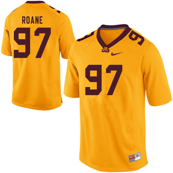 Men #97 Micah Roane Minnesota Golden Gophers College Football Jerseys Sale-Yellow