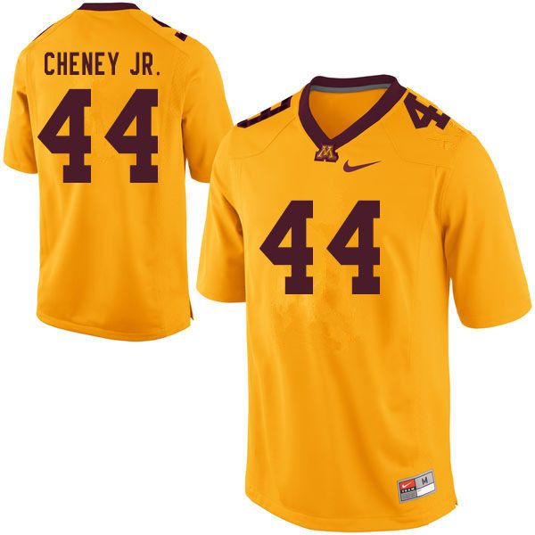 Men #44 Rashad Cheney Jr. Minnesota Golden Gophers College Football Jerseys Sale-Yellow
