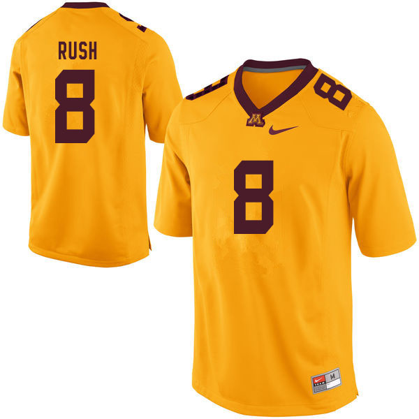 Men #8 Thomas Rush Minnesota Golden Gophers College Football Jerseys Sale-Yellow