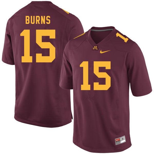 Men #15 Jaqwondis Burns Minnesota Golden Gophers College Football Jerseys Sale-Maroon