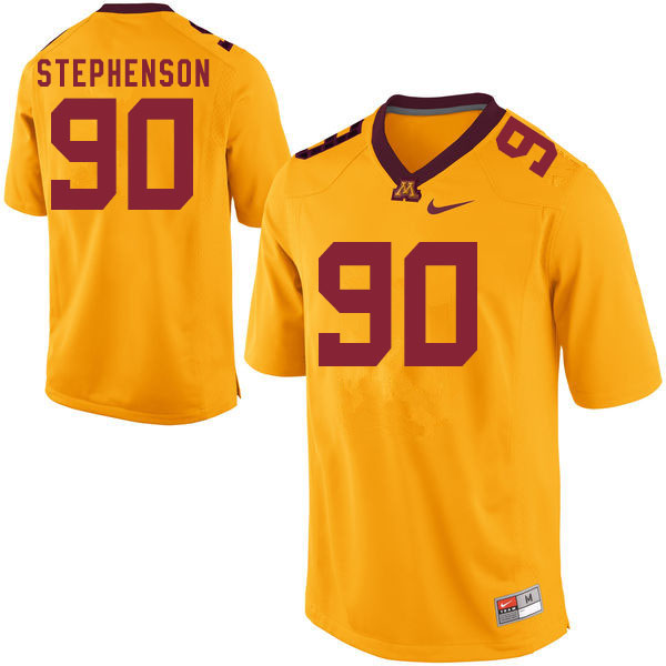 Men #90 Matthew Stephenson Minnesota Golden Gophers College Football Jerseys Sale-Gold