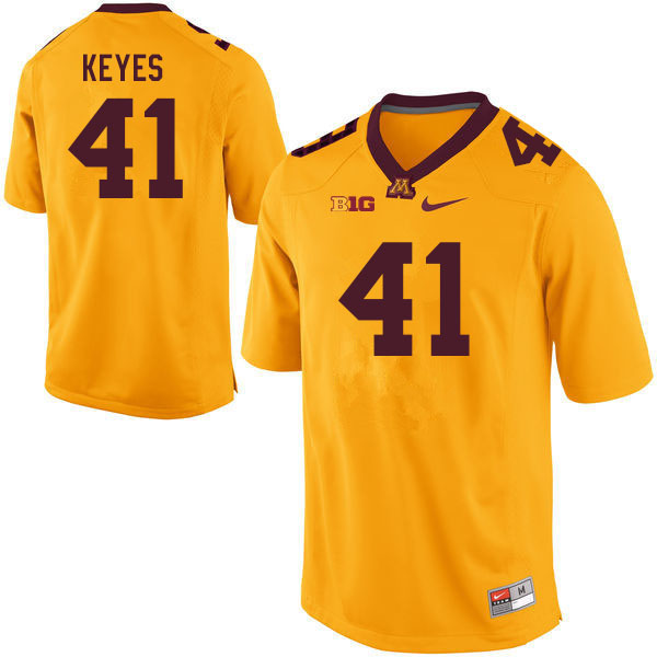 Men #41 Connor Keyes Minnesota Golden Gophers College Football Jerseys Sale-Gold