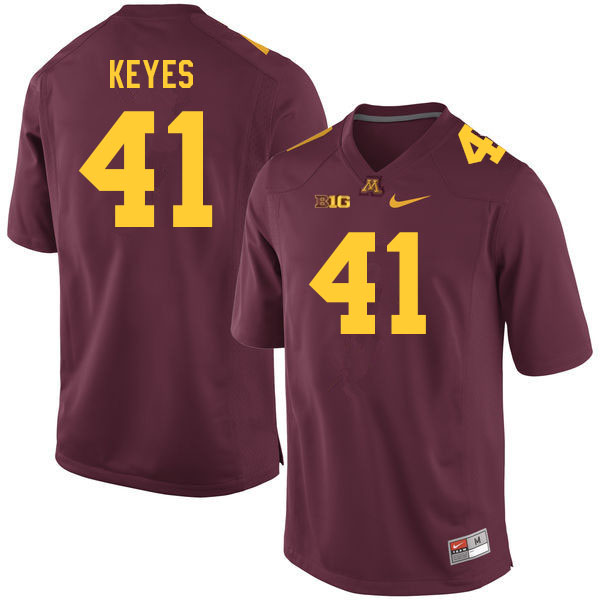 Men #41 Connor Keyes Minnesota Golden Gophers College Football Jerseys Sale-Maroon