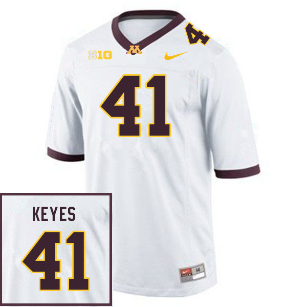 Men #41 Connor Keyes Minnesota Golden Gophers College Football Jerseys Sale-White