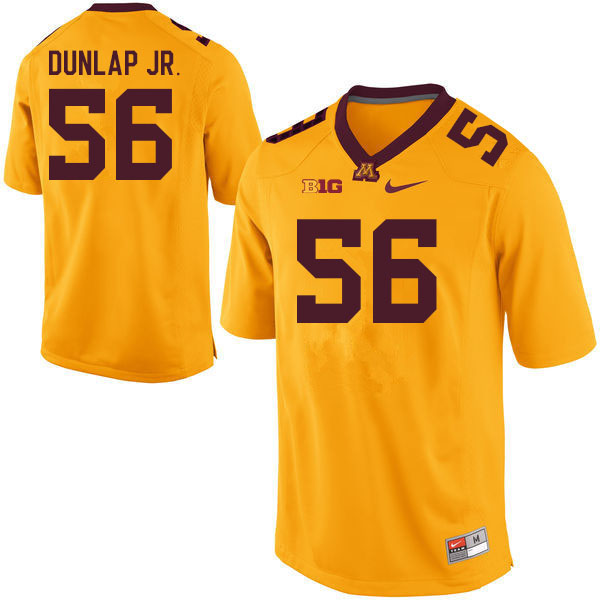 Men #56 Curtis Dunlap Jr. Minnesota Golden Gophers College Football Jerseys Sale-Gold