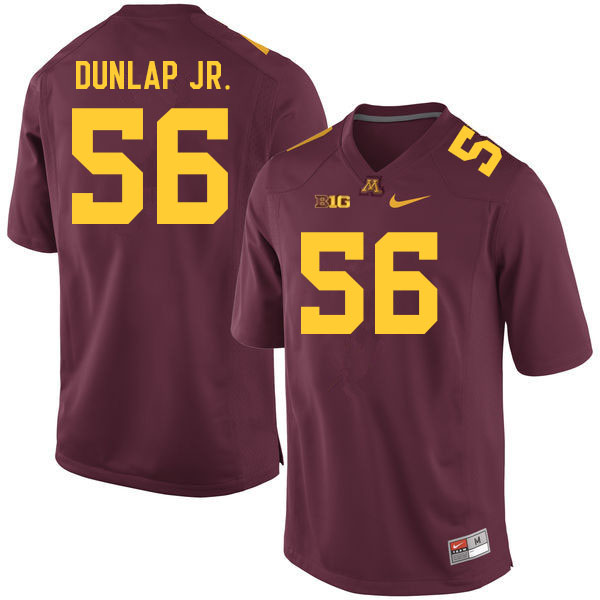 Men #56 Curtis Dunlap Jr. Minnesota Golden Gophers College Football Jerseys Sale-Maroon