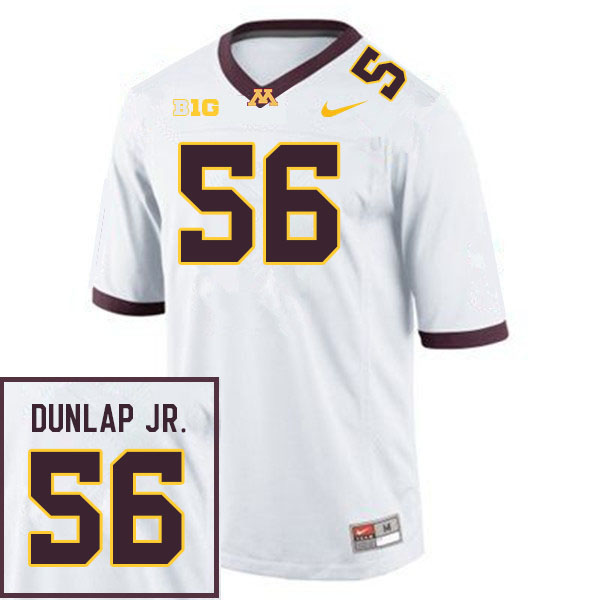 Men #56 Curtis Dunlap Jr. Minnesota Golden Gophers College Football Jerseys Sale-White