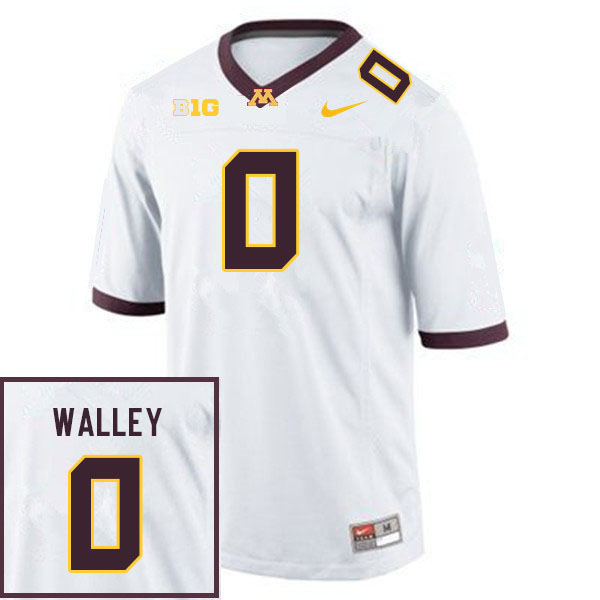 Men #0 Justin Walley Minnesota Golden Gophers College Football Jerseys Sale-White