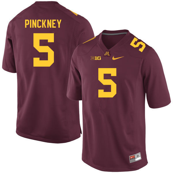 Men #5 Nyles Pinckney Minnesota Golden Gophers College Football Jerseys Sale-Maroon