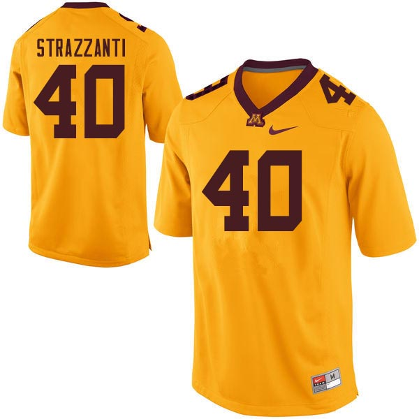 Men #40 Alex Strazzanti Minnesota Golden Gophers College Football Jerseys Sale-Gold