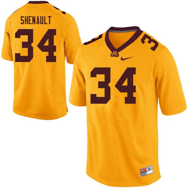Men #34 Antonio Shenault Minnesota Golden Gophers College Football Jerseys Sale-Gold