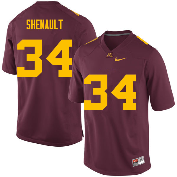 Men #34 Antonio Shenault Minnesota Golden Gophers College Football Jerseys Sale-Maroon