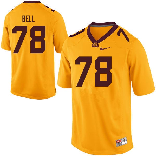 Men #78 Bobby Bell Minnesota Golden Gophers College Football Jerseys Sale-Gold