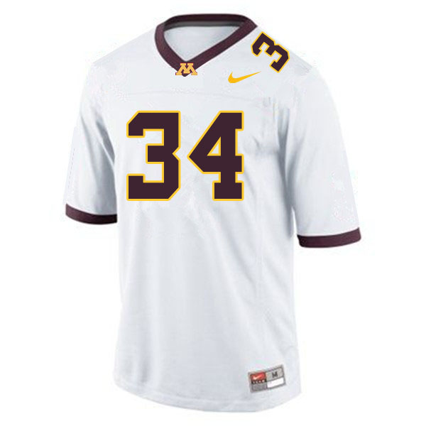 Men #34 Brock Walker Minnesota Golden Gophers College Football Jerseys Sale-White