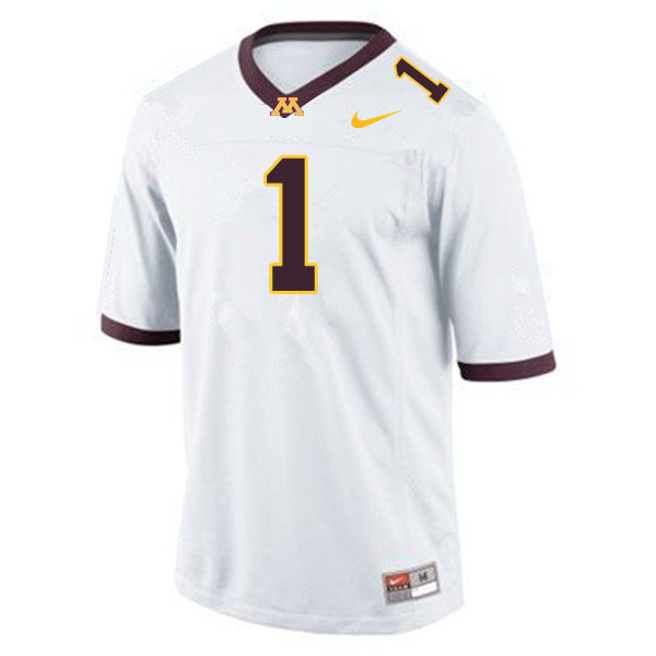 Men #1 Cam Wiley Minnesota Golden Gophers College Football Jerseys Sale-White
