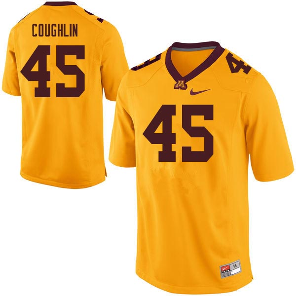 Men #45 Carter Coughlin Minnesota Golden Gophers College Football Jerseys Sale-Gold