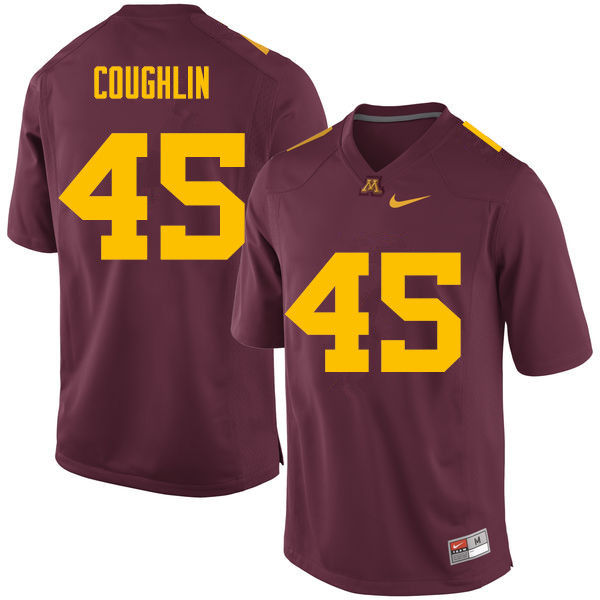 Men #45 Carter Coughlin Minnesota Golden Gophers College Football Jerseys Sale-Maroon