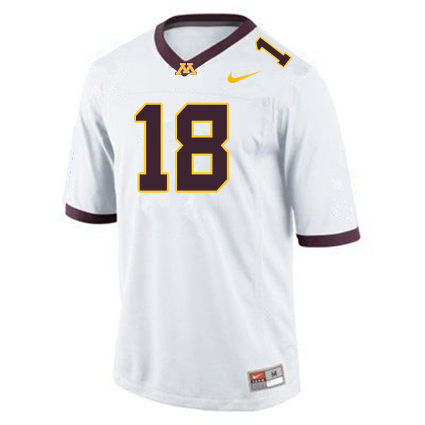 Men #18 Clay Geary Minnesota Golden Gophers College Football Jerseys Sale-White