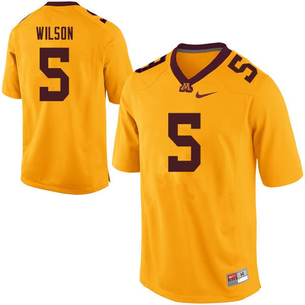Men #5 Damien Wilson Minnesota Golden Gophers College Football Jerseys Sale-Gold