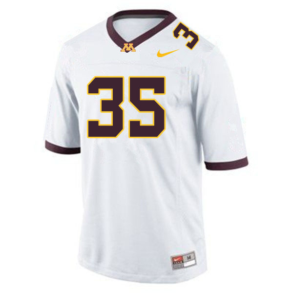 Men #35 Danny Anderson Minnesota Golden Gophers College Football Jerseys Sale-White