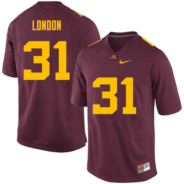 Men #31 Dominik London Minnesota Golden Gophers College Football Jerseys Sale-Maroon