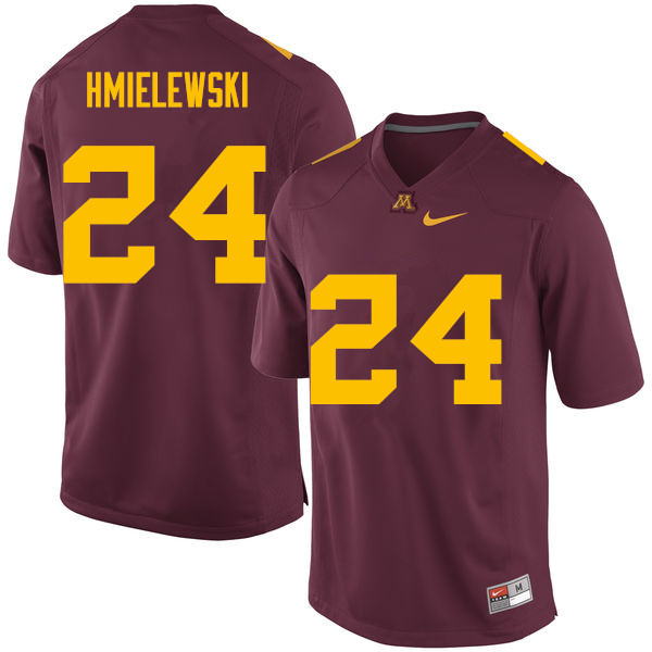 Men #24 Drew Hmielewski Minnesota Golden Gophers College Football Jerseys Sale-Maroon
