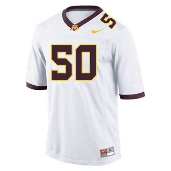 Men #50 JJ Guedet Minnesota Golden Gophers College Football Jerseys Sale-White
