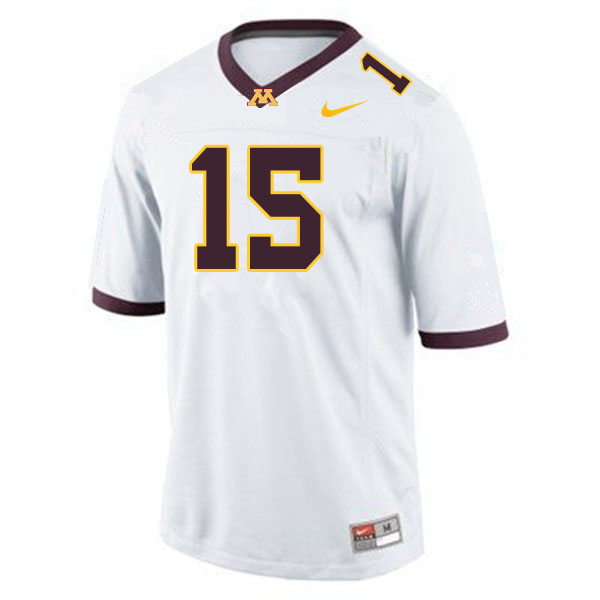 Men #15 Jaqwondis Burns Minnesota Golden Gophers College Football Jerseys Sale-White