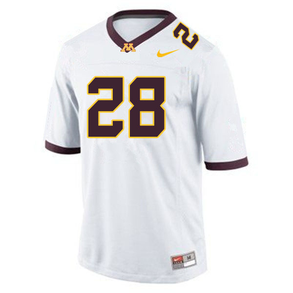 Men #28 Jason Williamson Minnesota Golden Gophers College Football Jerseys Sale-White