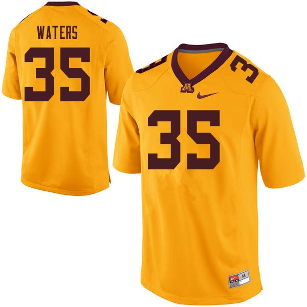 Men #35 Jaylen Waters Minnesota Golden Gophers College Football Jerseys Sale-Gold