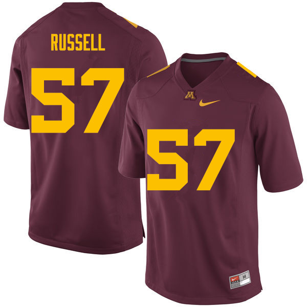 Men #57 Joe Russell Minnesota Golden Gophers College Football Jerseys Sale-Maroon
