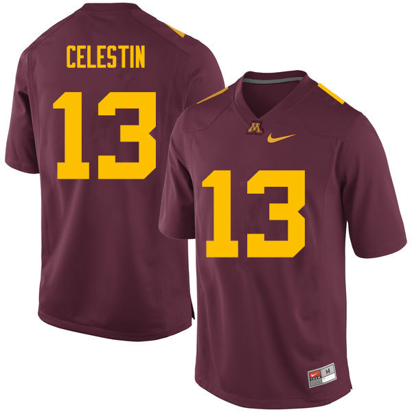 Men #13 Jonathan Celestin Minnesota Golden Gophers College Football Jerseys Sale-Maroon