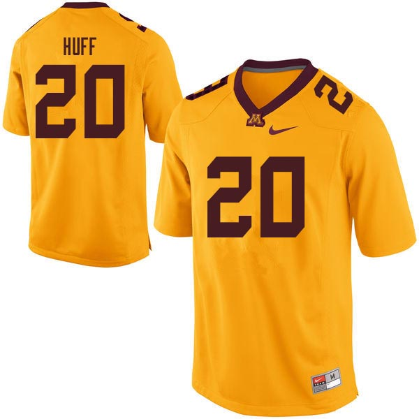 Men #20 Julian Huff Minnesota Golden Gophers College Football Jerseys Sale-Gold