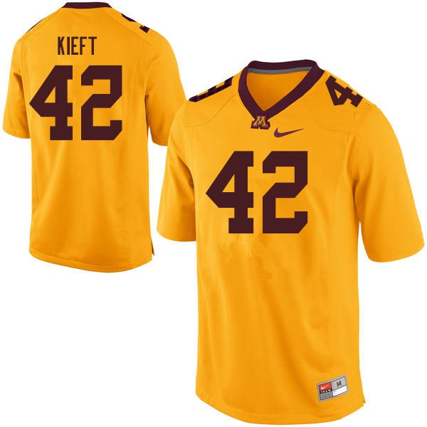 Men #42 Ko Kieft Minnesota Golden Gophers College Football Jerseys Sale-Gold