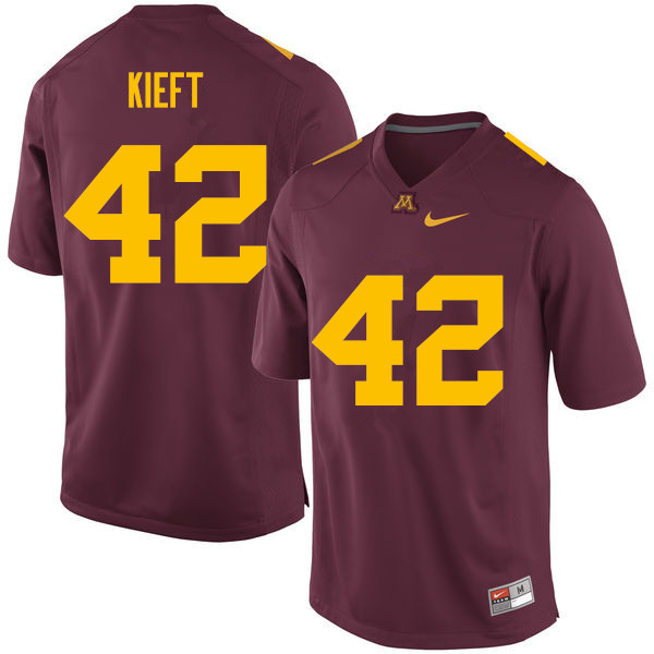 Men #42 Ko Kieft Minnesota Golden Gophers College Football Jerseys Sale-Maroon