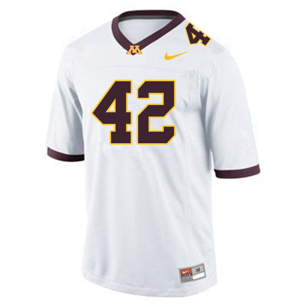 Men #42 Ko Kieft Minnesota Golden Gophers College Football Jerseys Sale-White